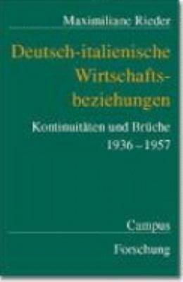Deutsch italienische Wirtschaftsbeziehungen PDF