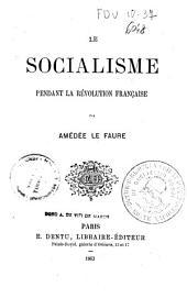 Le socialisme pendant la révolution française
