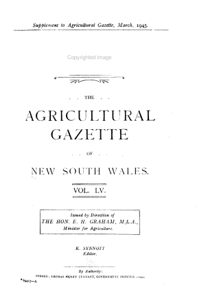 The Agricultural Gazette of New South Wales PDF