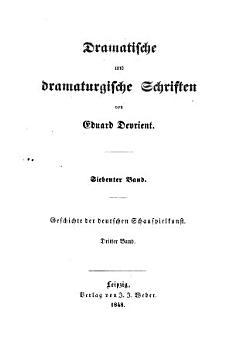 Geschichte der deutschen Schauspielkunst PDF