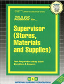 Supervisor (Stores, Materials and Supplies)
