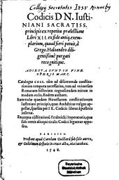 Codex Iustiniani: Lib. 1 - 6, Volume 1