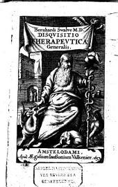 Bernhardi Swalve m. d. Disquisitio therapeutica generalis, ...