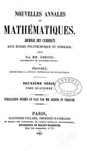 Nouvelles annales de mathématiques: journal des candidats aux écoles polytechnique et normale