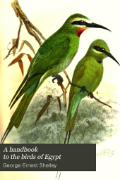 A Handbook to the Birds of Egypt