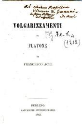 Volgarizzamenti da Platone