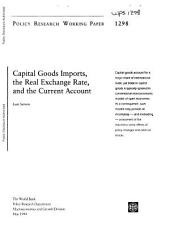 Capital Goods Imports: The Real Exchange Rate and the Current Account