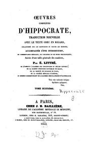 Oeuvres complètes ¬d'¬Hippocrate: Volume 8