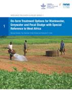 On farm treatment options for wastewater  greywater and fecal sludge with special reference to West Africa PDF