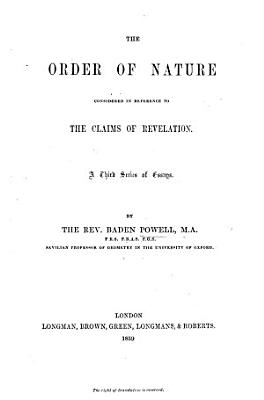 The Order of Nature PDF