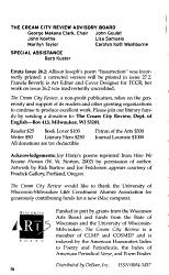 Cream City Review PDF