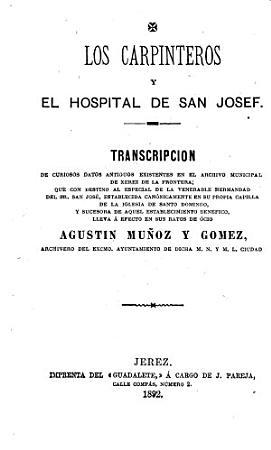 Los carpinteros y el Hospital de San Josef PDF