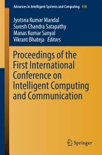 Proceedings of the First International Conference on Intelligent Computing and Communication PDF