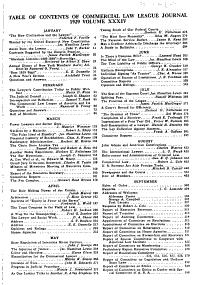 Commercial Law League Journal PDF