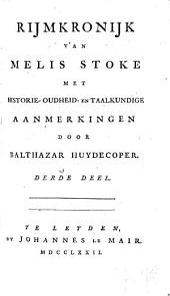 Rijmkronijk: met historie-oudheid-en taalkundige aanmerkingen, Volume 3