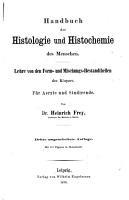 Handbuch der Histologie und Histochemie des Menschen PDF