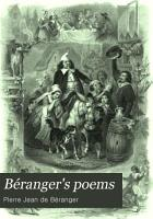B  ranger s Poems  In the Versions of the Best Translators PDF