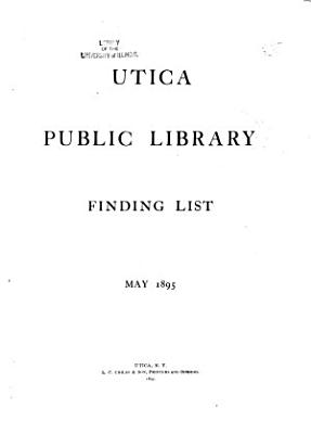 Finding List  May 1895 PDF