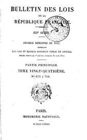 Bulletin des lois de la République franc̜aise: Volume12;Volume24