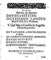 Georgii Hieronymi Velschii Sylloge curationum et observationum medicinalium: centurias VI complectens, c. notis eiusdem et episagmatum centuria I.