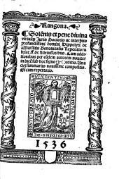 Rangona: Solennis pene divina repetitio rubrice ff. de fideiusoribus