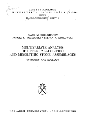 Multivariate Analysis of Upper Palaeolithic and Mesolithic Stone Assemblages PDF