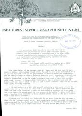 Site index and maximum gross yield capability equations for ponderosa pine in the Black Hills