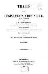 Traité de la législation criminelle