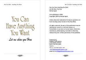 You Can Have Anything You Want Book PDF