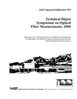 Technical Digest Symposium on Optical Fiber Measurements PDF
