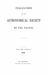 Publications of the Astronomical Society of the Pacific: Volumes 28-29