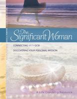 The Significant Woman Participant Book PDF