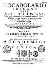 Vocabolario toscano dell'arte del disegno... opera di Filippo Baldinucci Fiorentino...