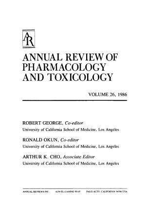 Annual Review of Pharmacology and Toxicology PDF
