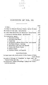 Complaints 1590-91 [with] Essay on English pastoral poetry, by E. W. Gosse. Rider on the same. Who were Rosalinde and Menaicas? Notices of Edward Kirke, by the editor