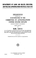 Departments of Labor  and Health  Education  and Welfare Appropriations for Fiscal Year 1970 PDF