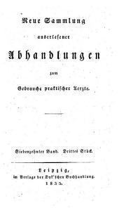 Sammlung auserlesener Abhandlungen zum Gebrauche praktischer Aerzte: Band 160