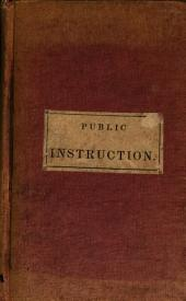 Lecture on Public Instruction in Prussia