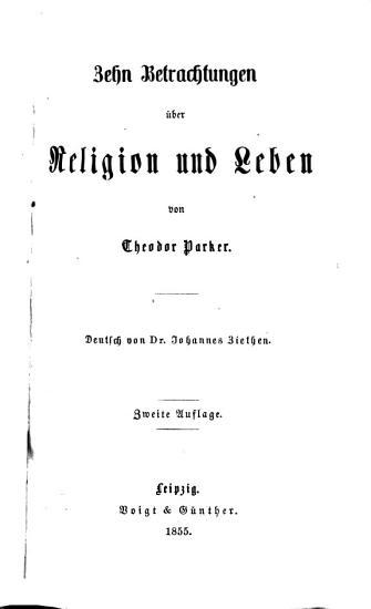 Zehn Betrachtungen   ber Religion und Leben PDF