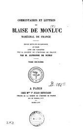 Commentaires: et lettres, Volume2
