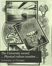 The University Record ... Physical Culture Number ...