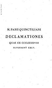 Marci Fabii Quinctiliani opera ad optimas editiones collata: Praemittitur notitia literaria studiis Societatis bipontinae, Volume 4