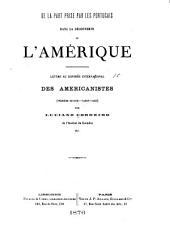De la part prise par les Portugais dans la découverte l'Amérique: lettre au Congrès Internacional des Americanistes (première session - Nancy - 1875)