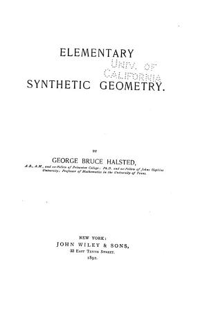 Elementary Synthetic Geometry PDF