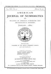 American Journal of Numismatics: Volumes 15-18