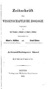 Zeitschrift für wissenschaftliche Zoologie: Band 58