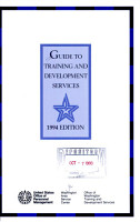 Guide to Training and Development Services PDF