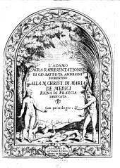 L'Adamo, sacra rapresentatione etc
