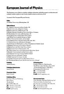 European Journal of Physics PDF