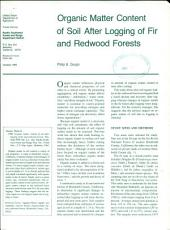 Organic matter content of soil after logging of fir and redwood forests